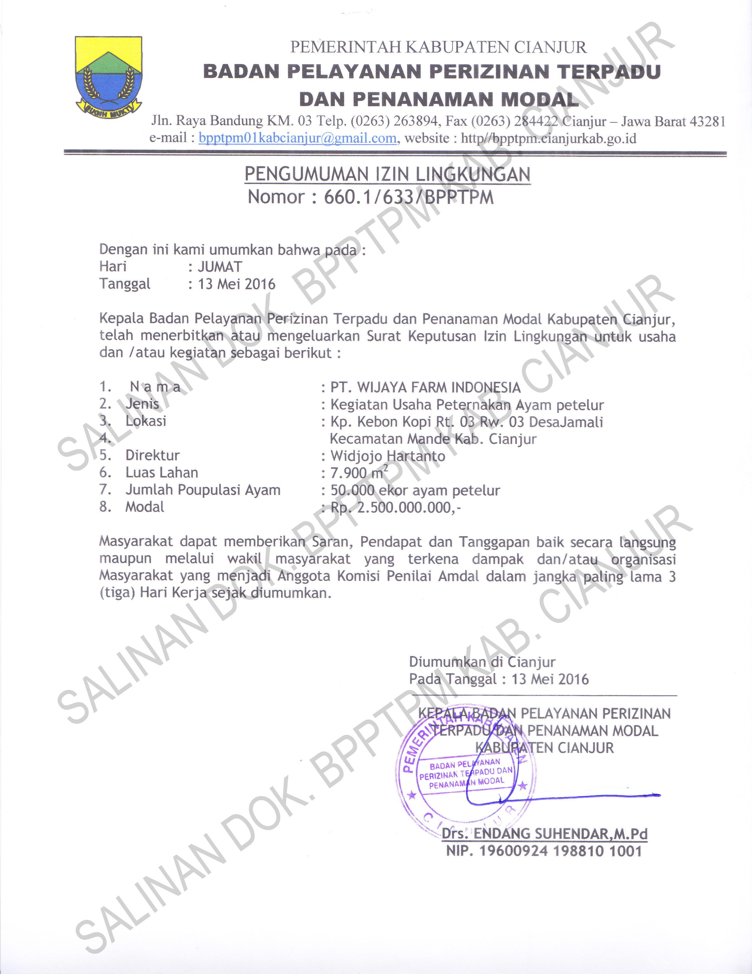 izin-lingkungan-pt-wijaya-farm-indonesia